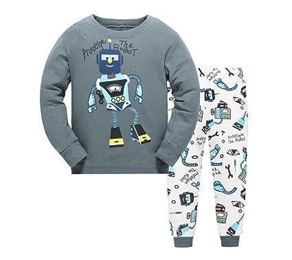 a28c85eb60 Pijamas para niños Conjuntos de ropa para niños Niños Pijamas de algodón  para niños Pijamas 6-7Y   130cm  Amazon.es  Ropa y accesorios