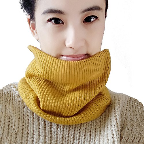 Leories Winter Neck Warmer Fleece Lined Infinity Scarf Soft Thick Circle Loop Scarves (Dog Fleece Scarf)