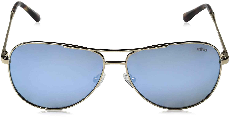 Revo Relay 59mm High Contrast Polarized Serilium 6-Base Lens Technology Sunglasses part of the Ladies Collection Gold Frame Spectra Lens Revo Sunglasses RE 1014