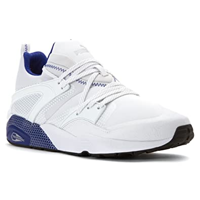 PUMA Mens Blaze Of Glory Core Shoes, White/Surf The Web, Size 9