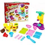 Children Play Modeling Dough Ice Cream Double Twister Playset Toys Deluxe Plasticine Mud with Bonding Clay and Molds