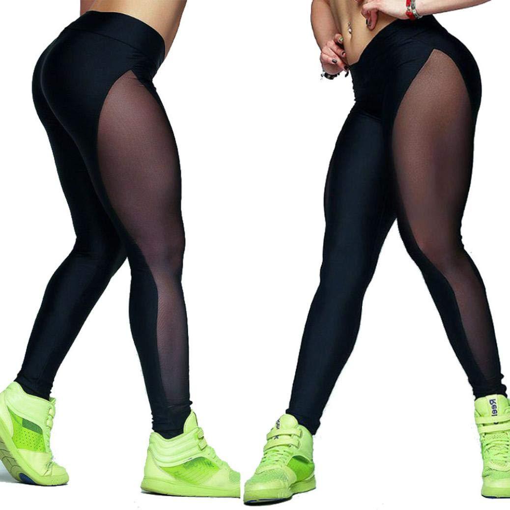 ❤️Pantalones de Malla de Mujer, Yoga Outdoor Gym Fitness Elástico Joggers Leggings Absolute: Amazon.es: Ropa y accesorios