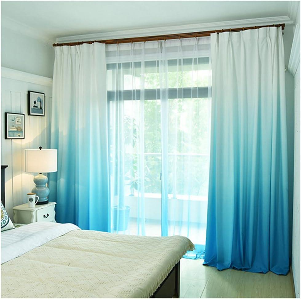 SCOFEEL HOME 1er Schal transparent Farbverlauf Vorhang Gardine Voile Fensterschal Dekoschal f/ür Wohnzimmer Kinderzimmer Schlafzimmer