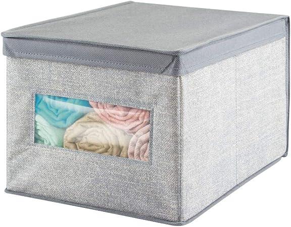 mDesign – Caja de tela para ordenar armarios – Ideal como ...