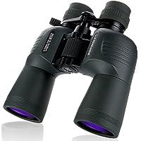 BORWOLF 10-30X50 Zoom grossissement HD à longue portée Zoom 10X-30X Télescope de chasse à grossissement Jumelles grand angle