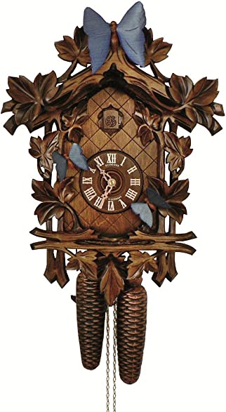 Schneider Anton Cuckoo Clock 13 Leaves, 3 Butterflies