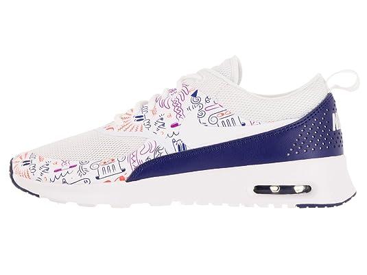 Nike WMNS Air Max Thea Print [599408-104] Women Casual Shoes White/Dark Purple