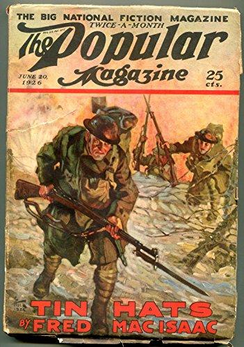 Popular Pulp Magazine June 20 1926- Tin Hats WWI Fred MacIsaac -