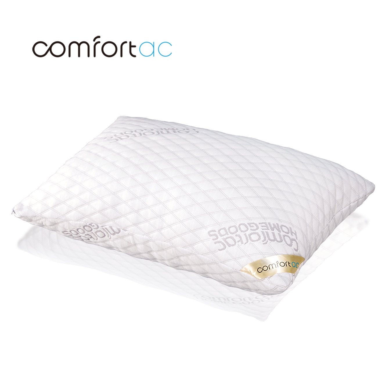 amazon com shredded memory foam pillow by comfortac with washable
