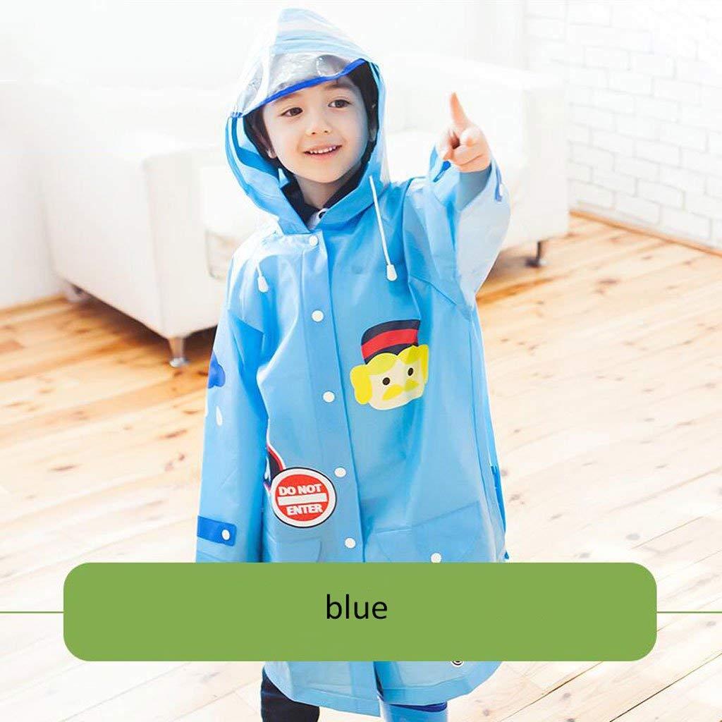 E-l  BAIF Imperméables pour Enfants garçons et Filles avec des voituretables Mode Poncho imperméable Maternelle VêteHommests de Pluie pour bébés (Couleur  D-M)