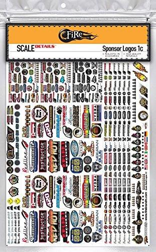 Firebrand rc • sponsor logo decals 1c scale details sticker sheet