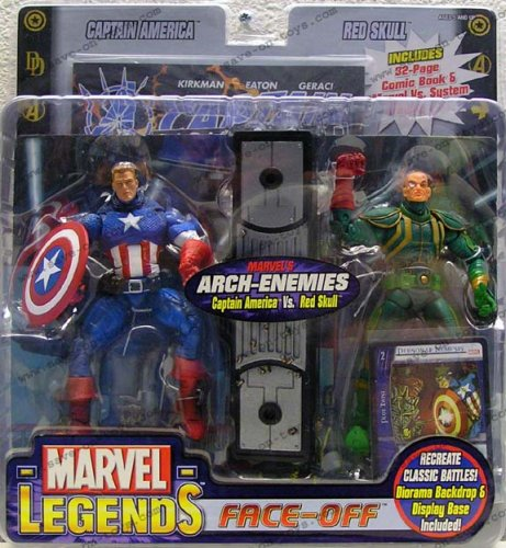 Marvel Legends Face Off Series 1 Variant Captain America vs. Red Skull Twin Pack Figure Set Red Skull Figure Set