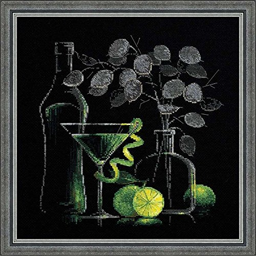 Riolis 14 Count Still Life with Martini Counted Cross Stitch