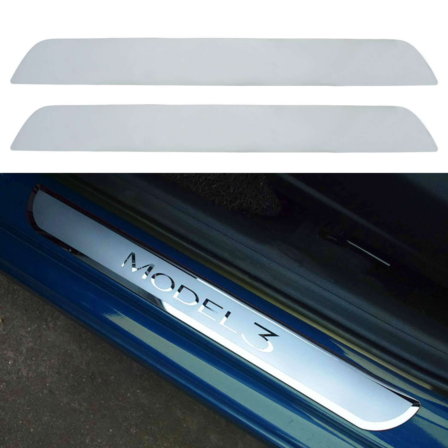 EDOU Tesla Model 3 Door Sill Protector,Sill Wrap Kit Protection Accessory for Tesla Model 3 Clear