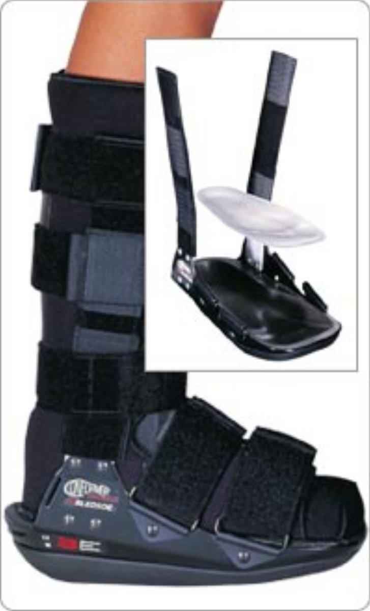 Bledsoe Conformer Boot Ulcer Walker, Air Ankle/Heel Pad Double Cuff Left 3 3/4''