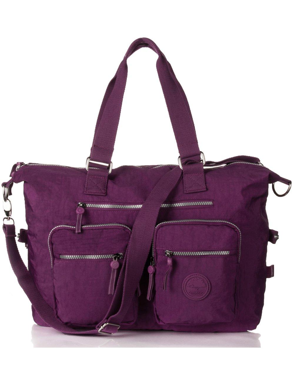 Detalles acerca de Weekender Bag Nylon oakarbo Grande Viaje Bolso 1212 Rojo  Violeta.- mostrar título original 91b913fc19729