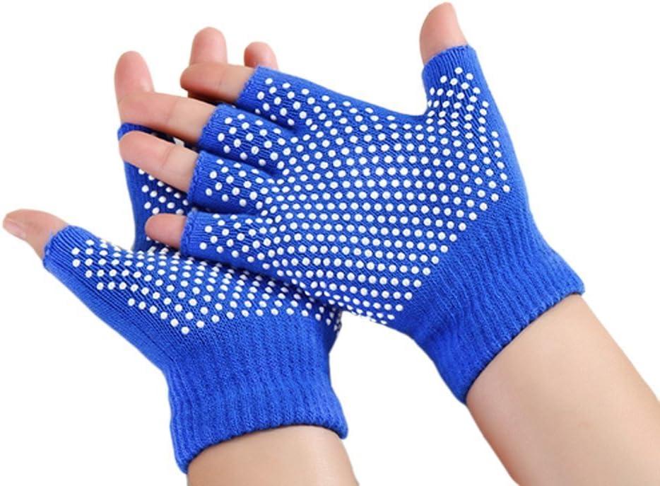 Amazon.com: iease antideslizante algodón Yoga mitad Dedos ...