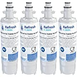 Kenmore 46-9690 / LG LT700P, ADQ36006101 Compatible Refrigerator Water Filter - fits Kenmore ADQ36006102 & LG Refrigerator Water Filters by Refresh (4)