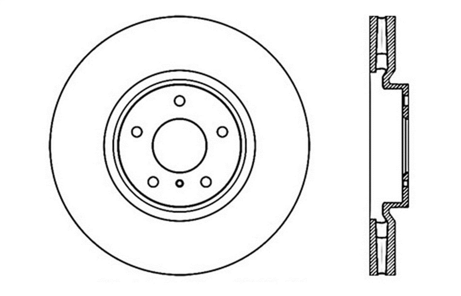 Rear Right StopTech 127.42105R Sport Drilled//Slotted Brake Rotor 1 Pack