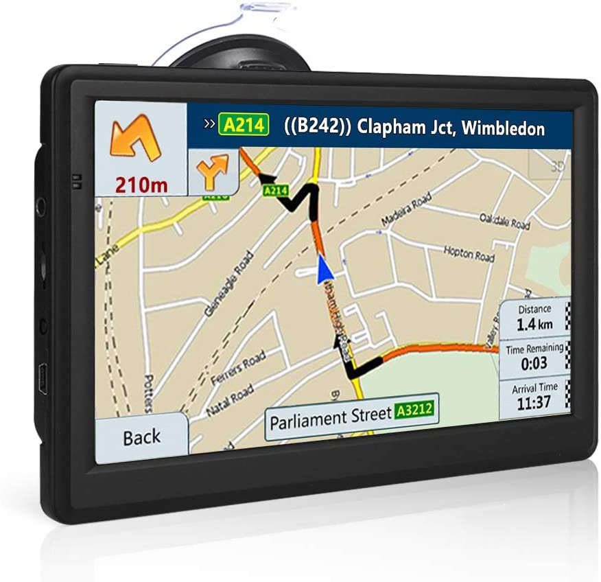 NETVIP GPS Navigation for car 7 Inch 8GB+256MB Car GPS Navigation System Smooth Running Lifetime Free Map Upgraded 2020 Vehicle GPS Navigation with Bluetooth Hands Free Talking