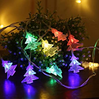 Luces del árbol de navidad luces decorativas de colores cadena fiesta jardín batería USB niños festival @ batería_6 metros 40 luces: Amazon.es: Iluminación