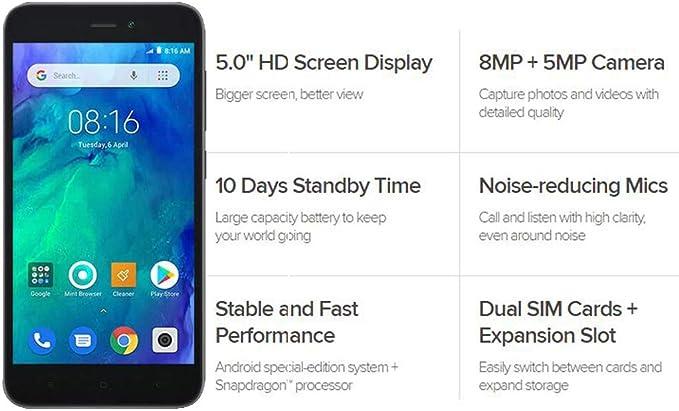 Xiaomi MZB7187EU REDMI GO 1GB/8GB Black: Xiaomi: Amazon.es: Electrónica