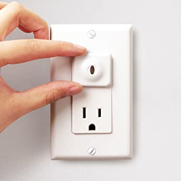 Baby Mate 24 Pcs Safety Electrical Outlet Covers Baby Proofing Safety Plugs For Outlets White Decorative Child Proof Outlet Plugs Covers
