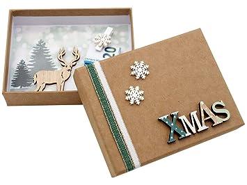 Zauberdeko Geldgeschenk Verpackung Weihnachten Xmas Schneeflocke