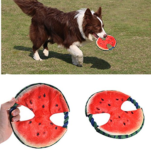 OKOKMALL US--Pet Dog Round Frisbee Flying Disc Tooth Resistant Outdoor Dog Training Fetch Toy