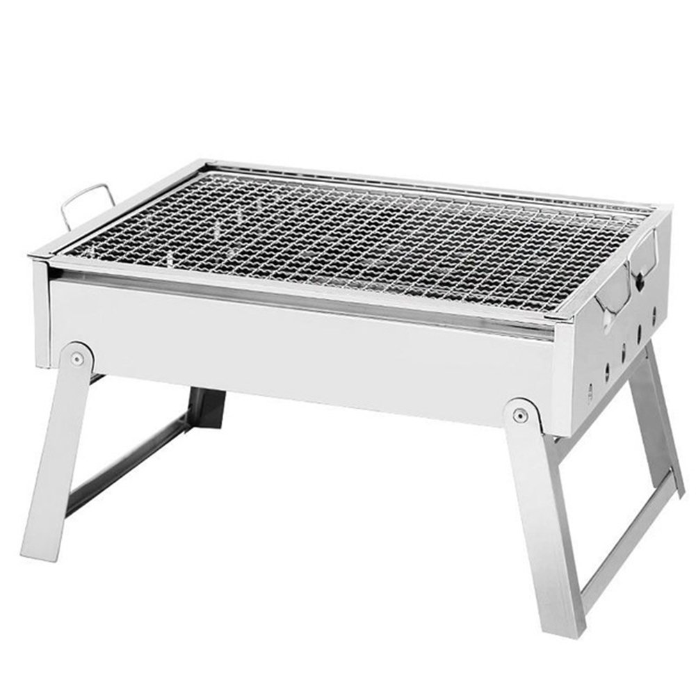 SUNRIS Charcoal Grills Picnic BBQ Grills Thickened Stainless Steel Barbecue Stove Portable Folding Rack BBQ Tools