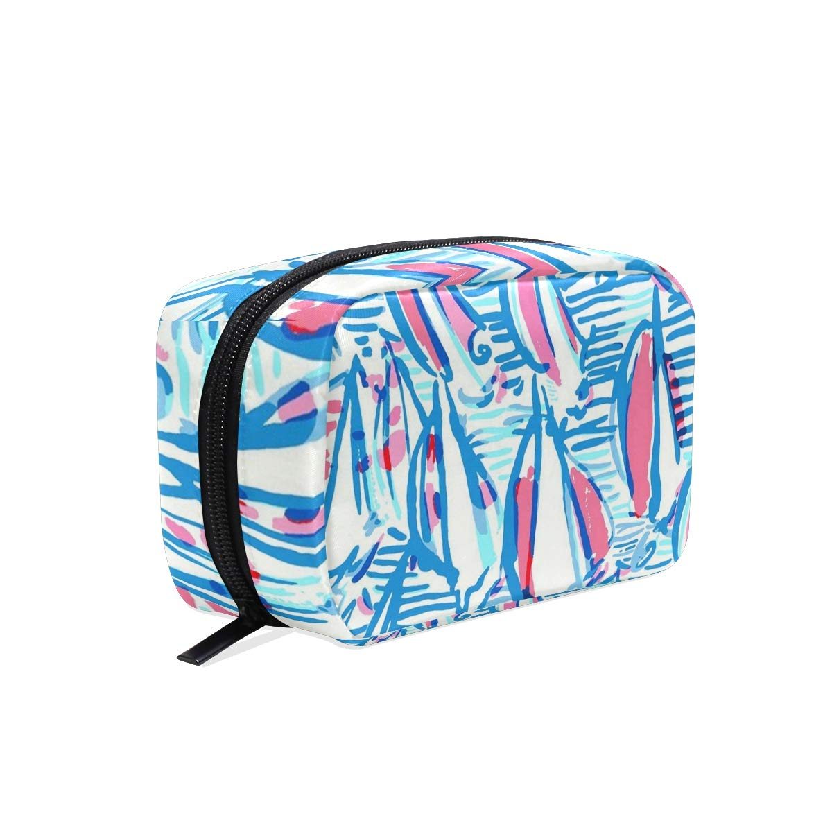 Portable Organizer Makeup bag,Lilly Pulitzer Cosmetic Bags Multi Compartment Travel Pouch Storage for Women