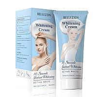 Underarm Beauty Créàm Melanin Whitening Créàm Skìn Lightening Créàm Effective for Knees Elbows Armpit Sensitive Areas Nourishes Repairs Skìn Brightening Deodorizing (1PC White)