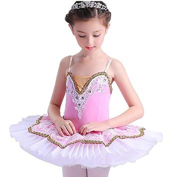 Jian E Traje de Ballet para niños Baile Rendimiento Falda ...