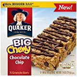 Quaker Big Chewy Chocolate Chip Granola Bars 7.4 OZ (Pack of 24)