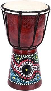 SHUNYUS Djembe Africa Djembe African Drum Instrumentos de percusión Tambor Similar a pandereta 4 Pulgadas Hecho a Mano Fuerte