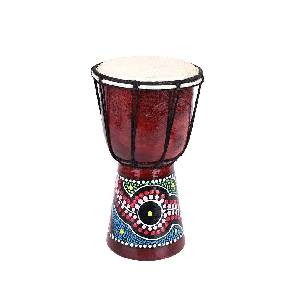 LISRUI Strong African Drum Djembe Ornament Ballad Novice Practice Peach Blossom Wood by LISRUI
