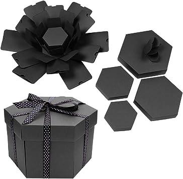 Everpertuk Explosion Box, Caja Creativa, Álbum de Fotos Hexagonal ...