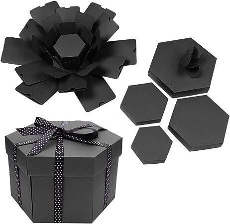 Everpertuk Explosion Box, Caja Creativa, Álbum de Fotos Hexagonal DIY, Regalo de Caja de Scrapbooking: Amazon.es: Hogar