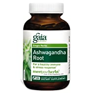 Gaia Herbs Ashwagandha Root, Vegan Liquid Capsules, 120 Count - for Stress Relief,
