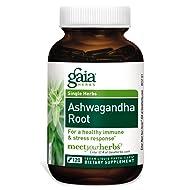 Gaia Herbs Ashwagandha Root, Vegan Liquid Capsules, 120 Count - for Stress Relief,