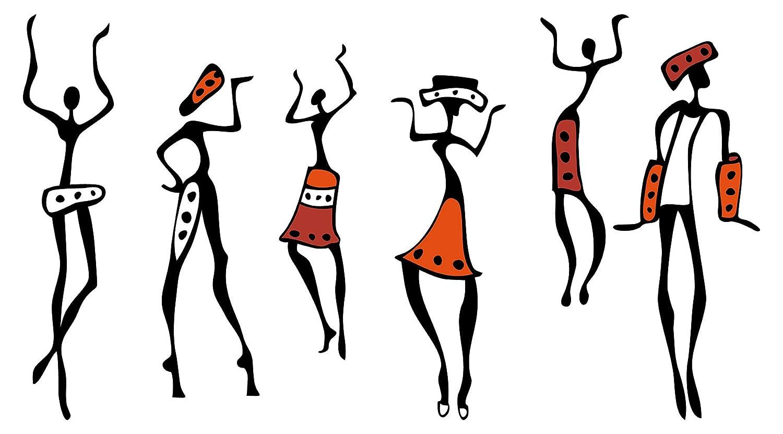 Wandtattoo Afrika Wandsticker Dekoration Figuren Menschen