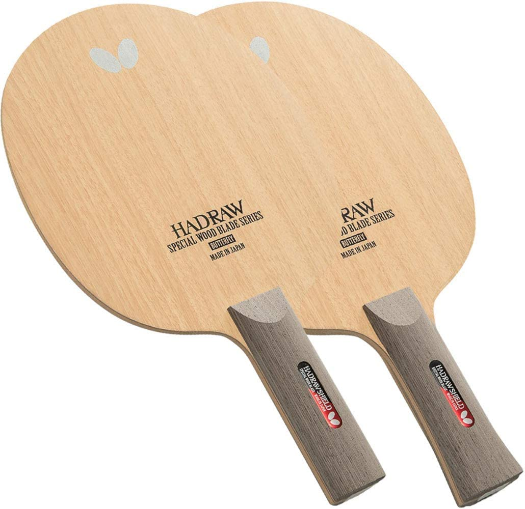 Hadraw Shield Blade Made in Japan Professional Table Tennis Blade and ST Handle Type FL Butterfly Hadraw Shield Blade Table Tennis Blade Defensive All-Wood Blade