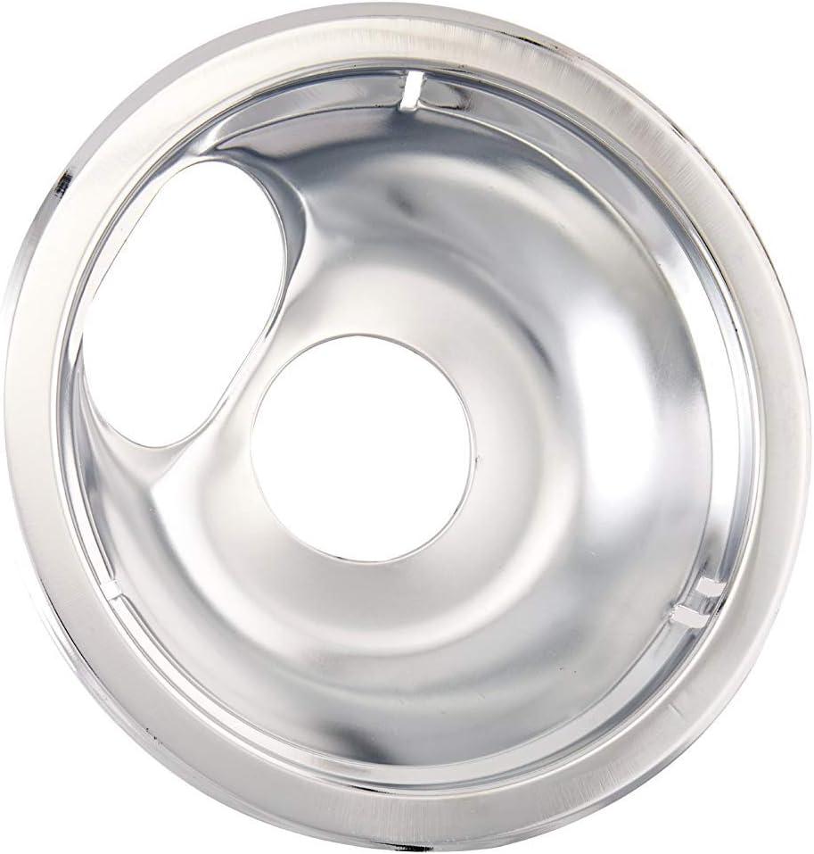 """Farberware Classic Universal Stovetop Drip Pan, Chrome, 6"""" (4 Pack)"""