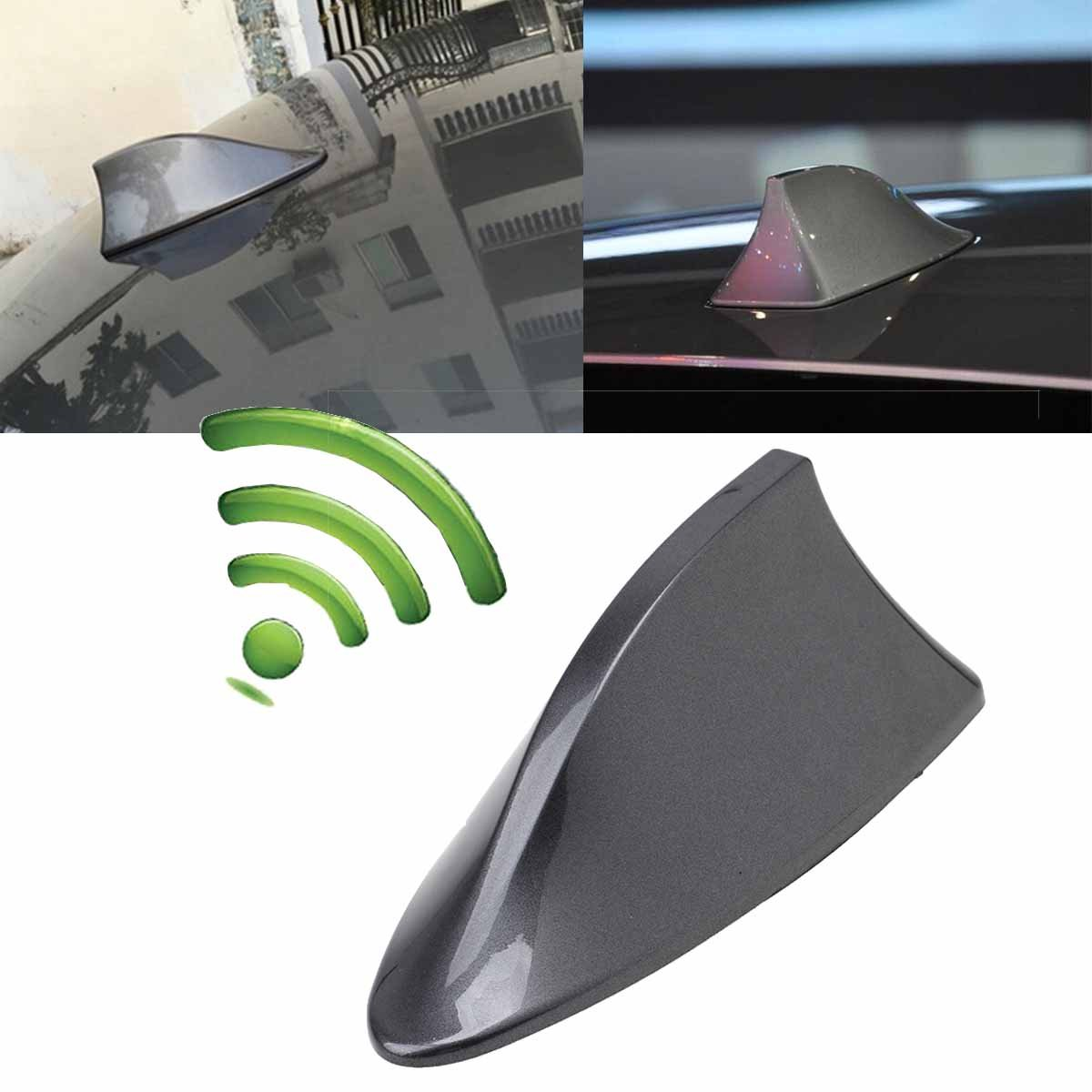Possbay Car Antenna Shark Fin Aerial Radio Signal Universal for Auto SUV Truck Van