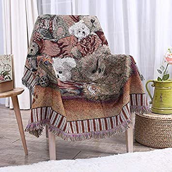 Amazon.com: Manta de felpa para decoración del hogar, sofá ...