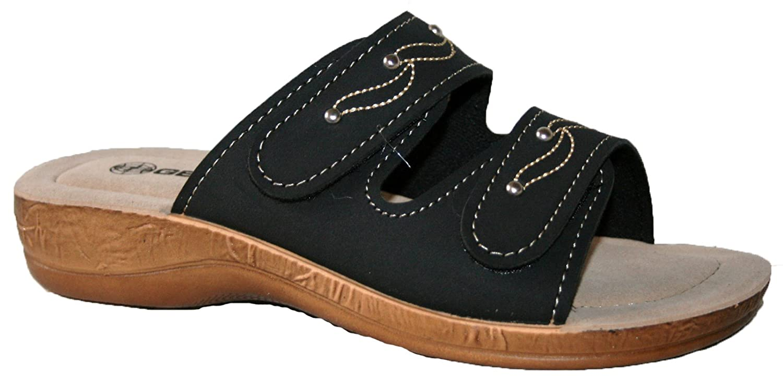 Gezer Ladies, Slip on Peep-Toe Peep-Toe Peep-Toe Mule Leggero Morbida e Confortevole Mule Sandali black straps 33a0d1