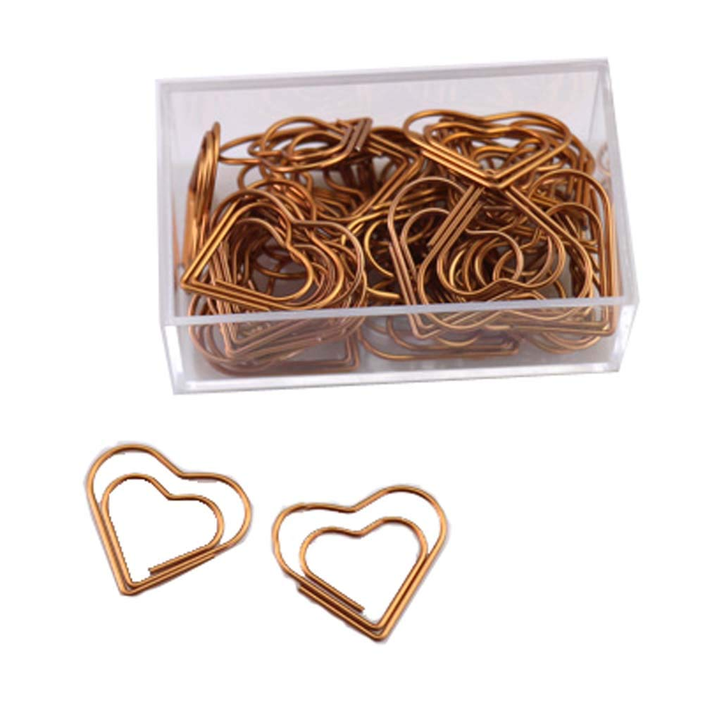 30 Pieces Beatiful Love Shape of Paper Clips, D1