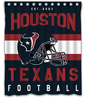 Sonaby Custom Houston Texans Waterproof Fabric Shower Curtain For Bathroom Decoration 60x72 Inches