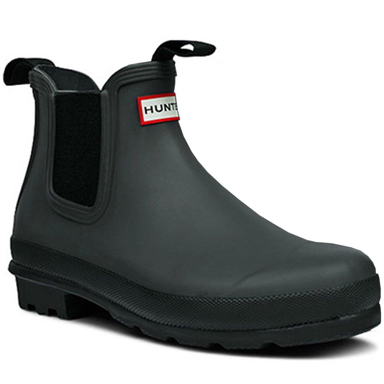 Womens Hunter Original Chelsea Wellingtons Waterproof Rain Ankle Boots B00NGPOUDO 9 B(M) US|Black