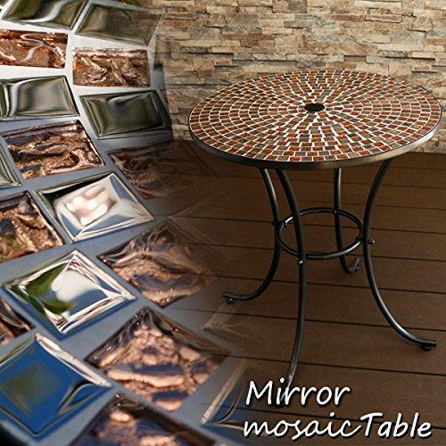 ガラスモザイクタイルテーブル φ60cm B076HJ6PJZ